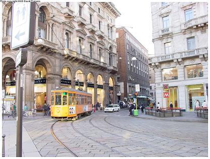 Milan old tram