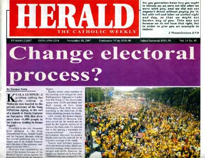Herald on Bersih rally