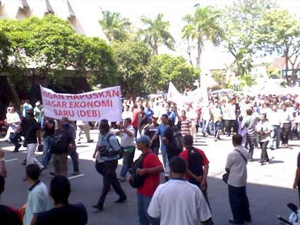 pro NEP protest